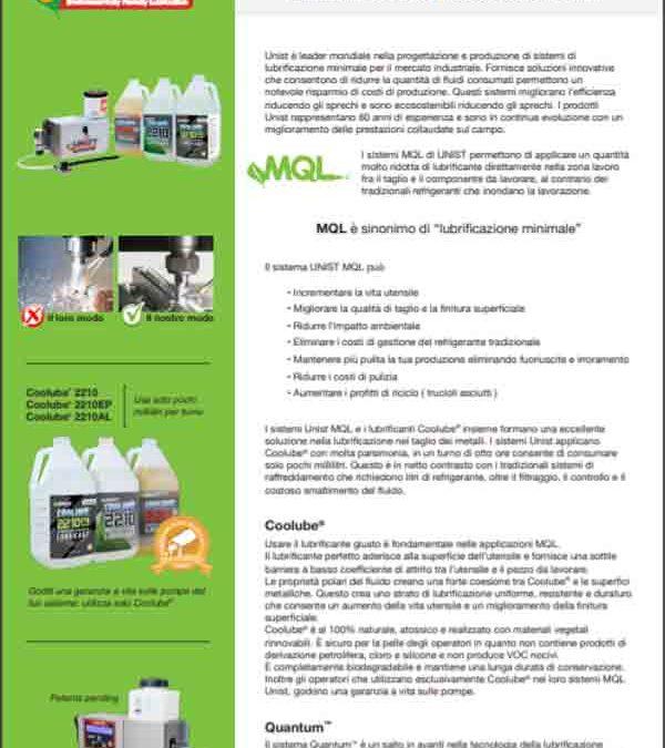 MQL_Unist Minimum Quantity Lubrication Systems